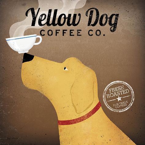 Yellow Dog Coffee Co. Art Print