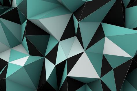 Geometric Background Art Print