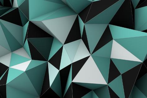 Geometric Background Art Print