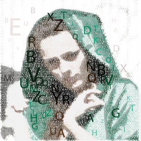 Urban Female Made from Letters Art Print