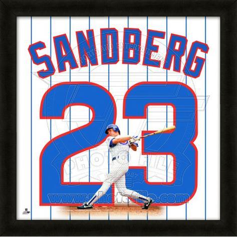 Ryne Sandberg, Cubs representation of the player's jersey Framed Memorabilia