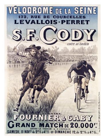 S.F. Cody vs. Fournier and Gaby Giclee Print