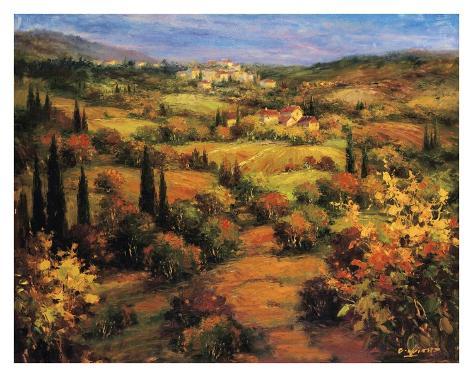 Umbria Panorama Art Print