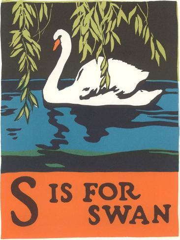 S is for Swan Art Print