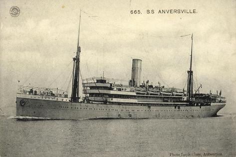 S.S. Anversville, Belgian Line, Dampfschiff Stampa giclée