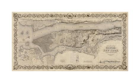 City and Country of New York, 1836 Giclee Print