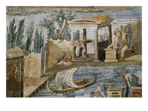 Detail of Palestrina Mosaic Giclee Print