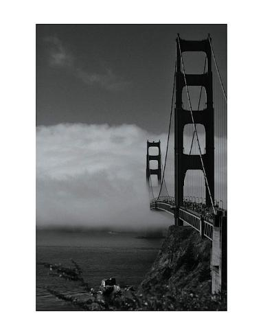Golden Gate Fog Art Print