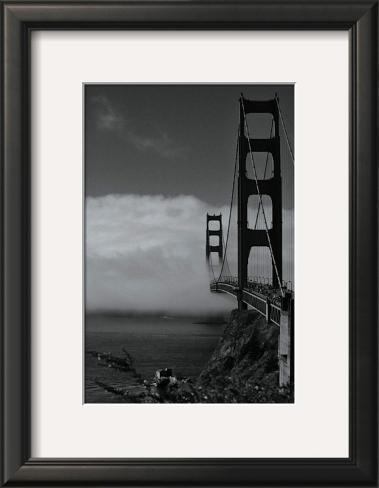 Golden Gate Fog Framed Art Print