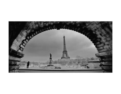 Paris, Under the Bridge Art Print