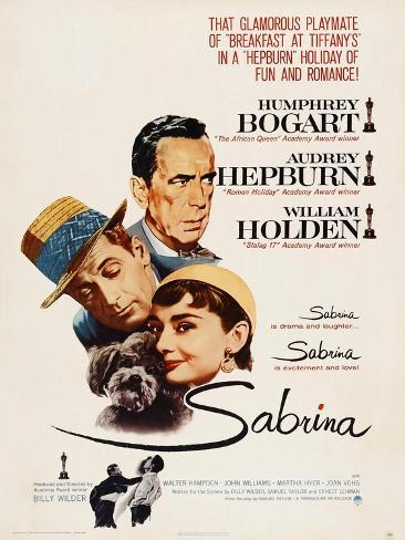 Sabrina, Audrey Hepburn, Directed by Billy Wilder, 1954 Giclee Print