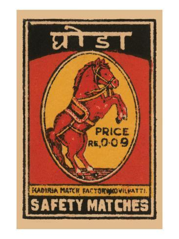 Safety Matches Art Print
