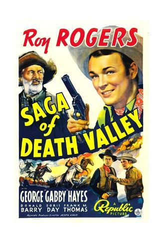 SAGA OF DEATH VALLEY, top from left: George 'Gabby' Hayes, Roy Rogers, 1939. Art Print