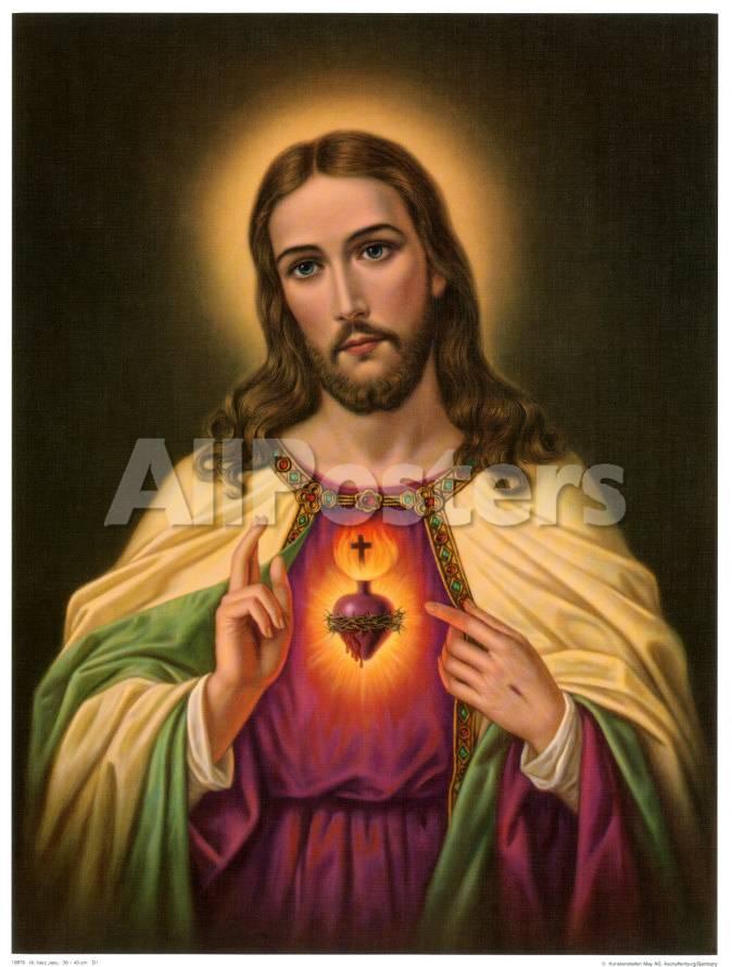 Sagrado corazón de Jesús Láminas en AllPosters.es
