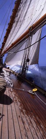 Sailboat in the Sea, Antigua, Antigua and Barbuda Photographic Print