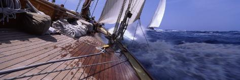 Sailboats in the Sea, Antigua, Antigua and Barbuda Photographic Print