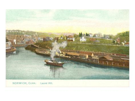 Sailing Ship, Norwich, Connecticut Art Print