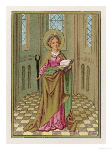 Saint Agatha Martyred Virgin Lámina giclée