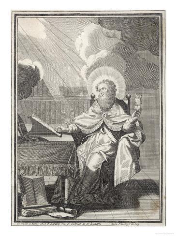 Saint Augustine of Hippo Early Christian Church Father and Philosopher Lámina giclée