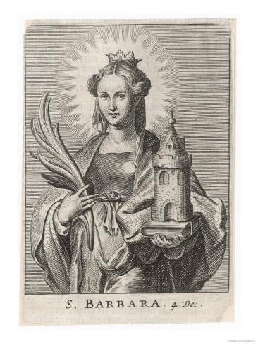 Saint Barbara Carrying a Tower to Symbolise the One Lámina giclée
