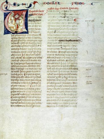 Saint Bernard of Clairvaux, Miniature, Italy 14th Century Giclee Print