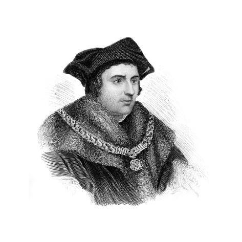 Saint Sir Thomas More, English Politician, Scholar and Martyr Lámina giclée