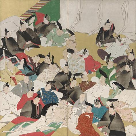 Thirty-Six Poets, Edo Period Impressão giclée