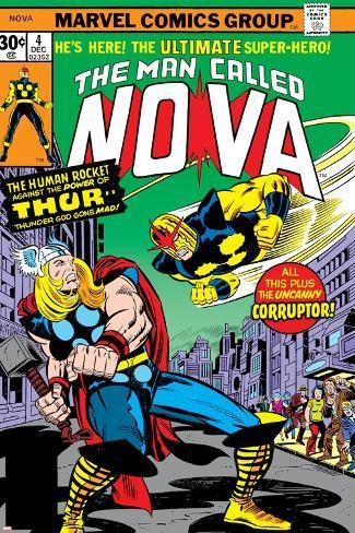 Nova: Origin Of Richard Rider - The Man Called Nova No.4 Cover: Nova and Thor Poster