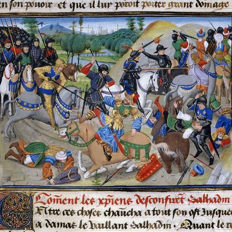 Saladin Defeated by the Crusaders, 1191 Valokuvavedos