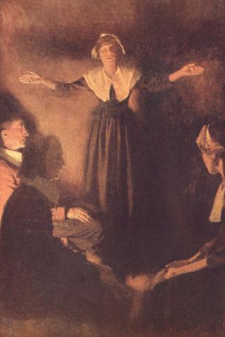 Salem Magistrates Examine of Rebecca Nurse, During Salem Witch Trials, 1692 Lámina