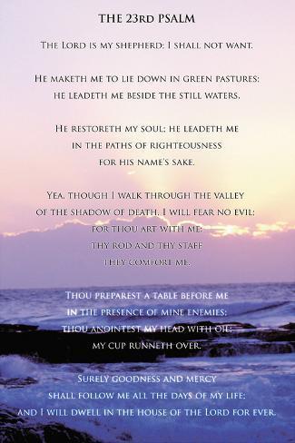 Salmo 23 Reproducción de lámina sobre lienzo