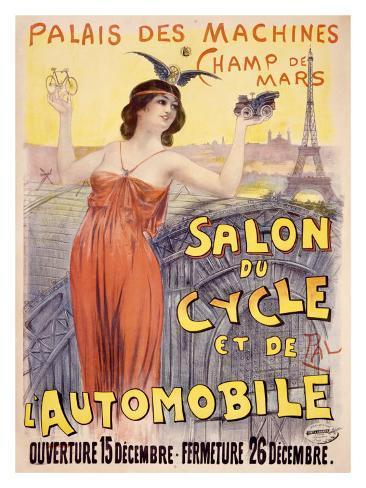 Salon du Cycle et de Automobile Giclee Print