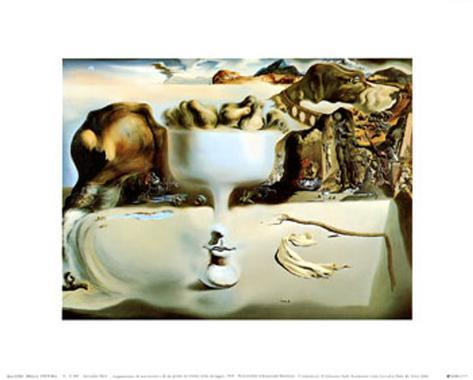 Apparition of a Face and Fruit Dish on a Beach, c.1938 Art Print