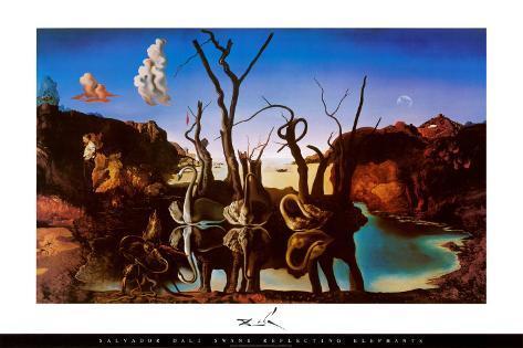 Cisnes que se reflejan como Elefantes-Salvador Dalí, Salvador-dali-cisnes-que-se-reflejan-como-elefantes-c-1937_a-G-914505-0