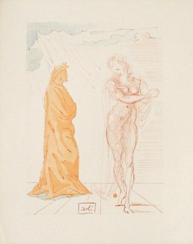 Divine Comedie, Enfer 02: Virgile Réconforte Dante Collectable Print