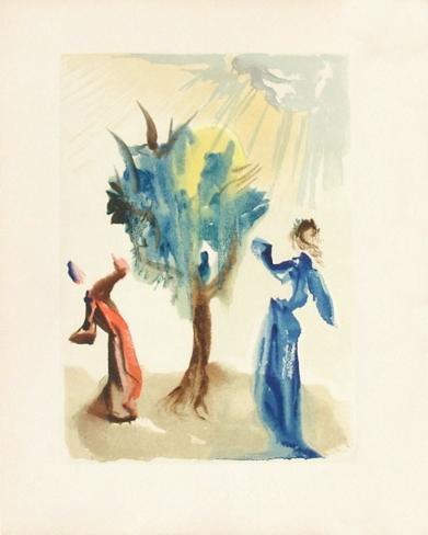 Divine Comedie, Purgatoire 24: L'arbre du chatiment Lámina coleccionable