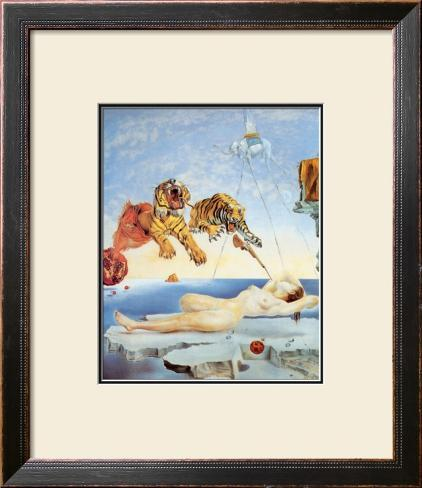 Dream Caused by the Flight of a Bee around a Pomegranate, c. 1944 Framed Art Print
