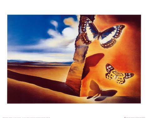 Landscape with Butterflies Art Print