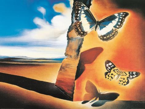 Paisaje con mariposas Lámina