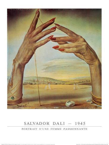 Retrato de una mujer apasionada Pósters por Salvador Dalí en ...