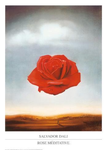 Rose Meditative, c.1958 Art Print