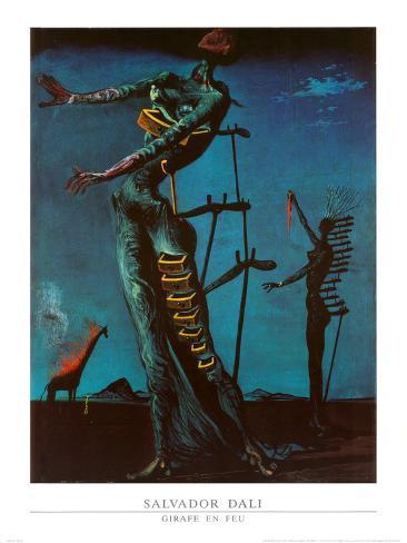 The Burning Giraffe, c. 1937 Impressão artística