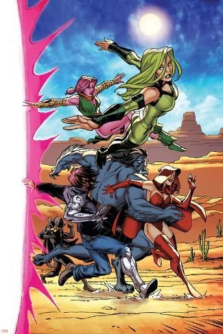 Exiles No.3 Group: Polaris, Blink, Beast, Scarlet Witch, Forge and Black Panther Poster