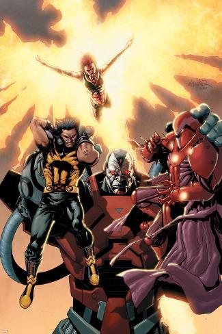 Ultimate X-Men No.93 Cover: Wolverine, Phoenix, Apocalypse and Onslaught Poster