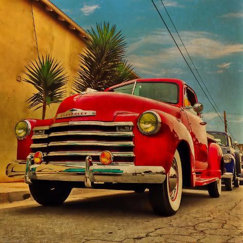 Vintage Classic Truck Valokuvavedos