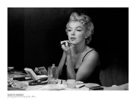 Marilyn Monroe, Back Stage Art Print
