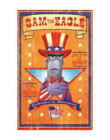 Sam the Eagle: Defender of Patriotism Art Print