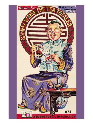 Sammy Wong The Tea Totaler Stretched Canvas Print