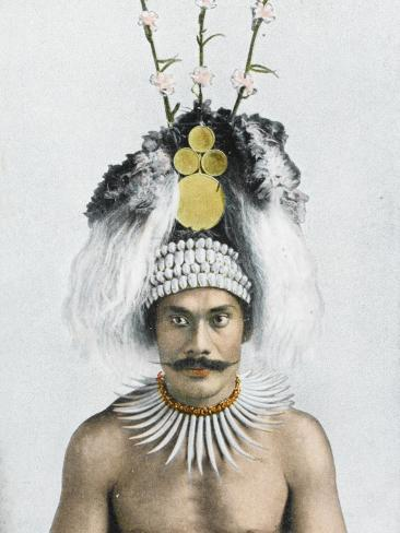 Samoan Chief Lámina fotográfica