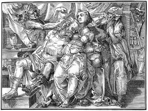 Samson and Delilah, 1574 Lámina giclée
